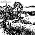 рисунок графика пейзаж Дмитрий Королев